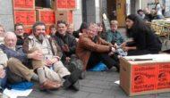 Commerzbankfiliale in Bonn blockiert