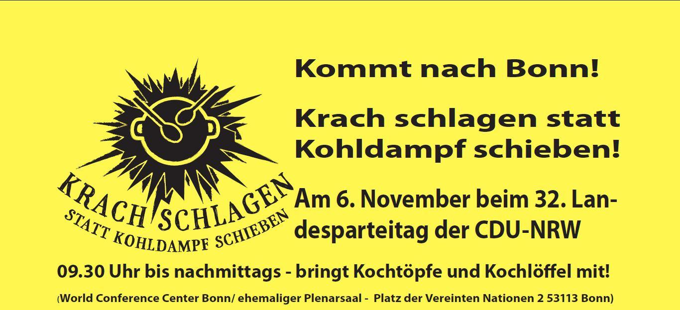 Die Bundeskanzlerin kommt Samstag nach Bonn – Erwerbslose auch!