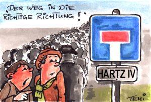 Der richtige Weg Hartz IV (C) Hans-J. Tempel www.tempelart.de