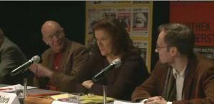 Jutta Ditfurth  auf der Podiumsdiskussion der Internationale Roserena-Luxemburg-Konferenz 14.1.2012